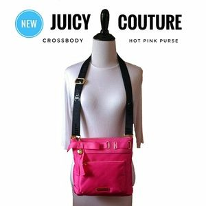 ※NEW※ JUOCY COUTURE Hot Pink +Gold Crossbody Purse